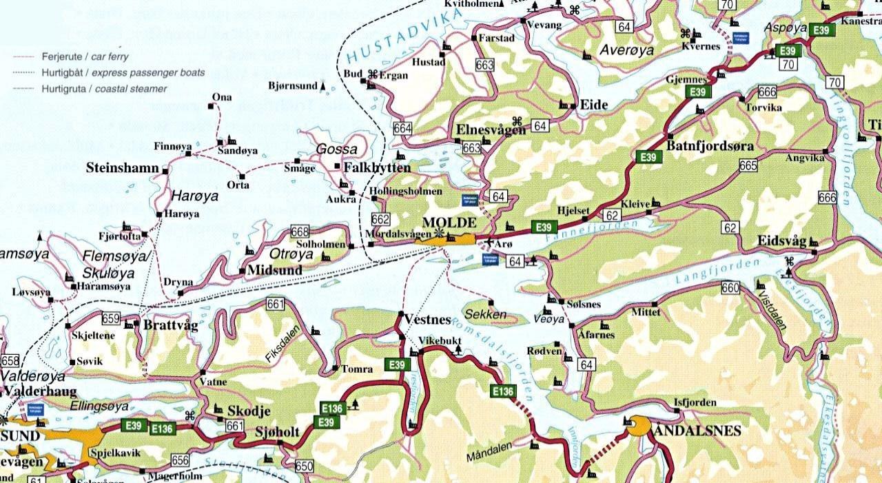 Danes Vikings And All That Jazz - Norway map of fjords